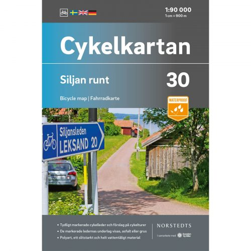 Bicycle map 30 Siljan round cover