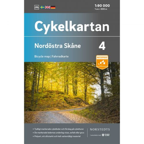 Bicycle map 4 Northeast Skåne cover