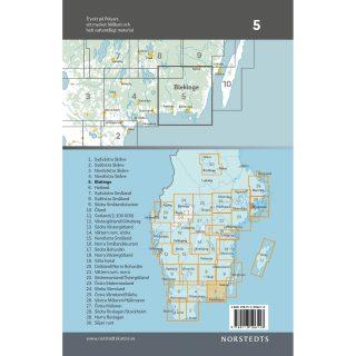 Bicycle map 5 Blekinge back