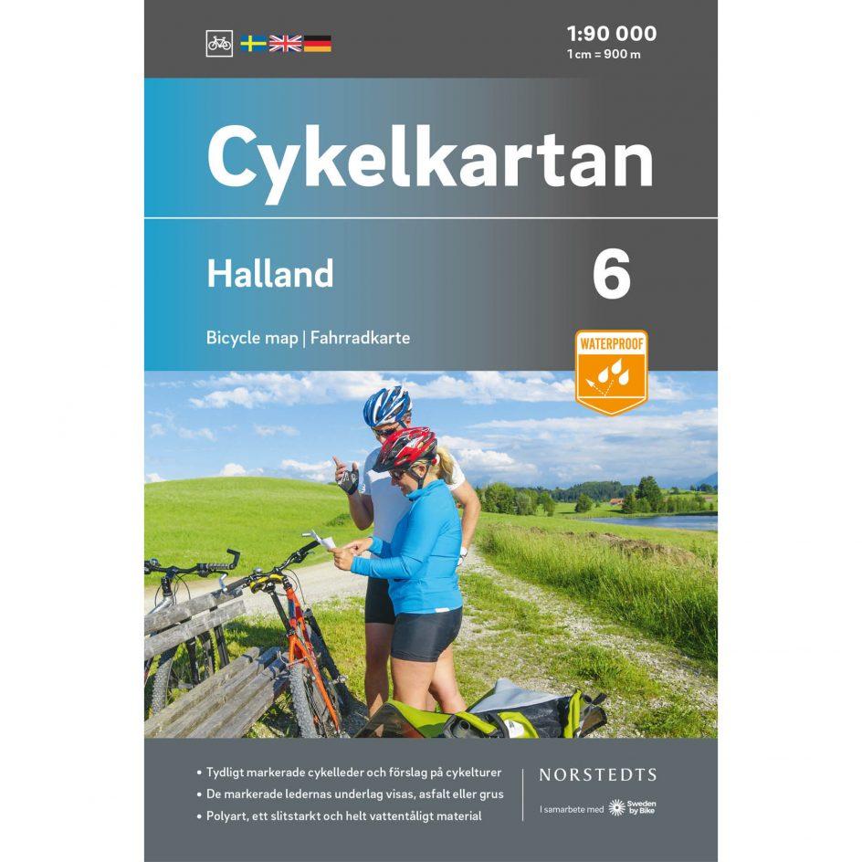 Cykelkarta 6 Halland omslag