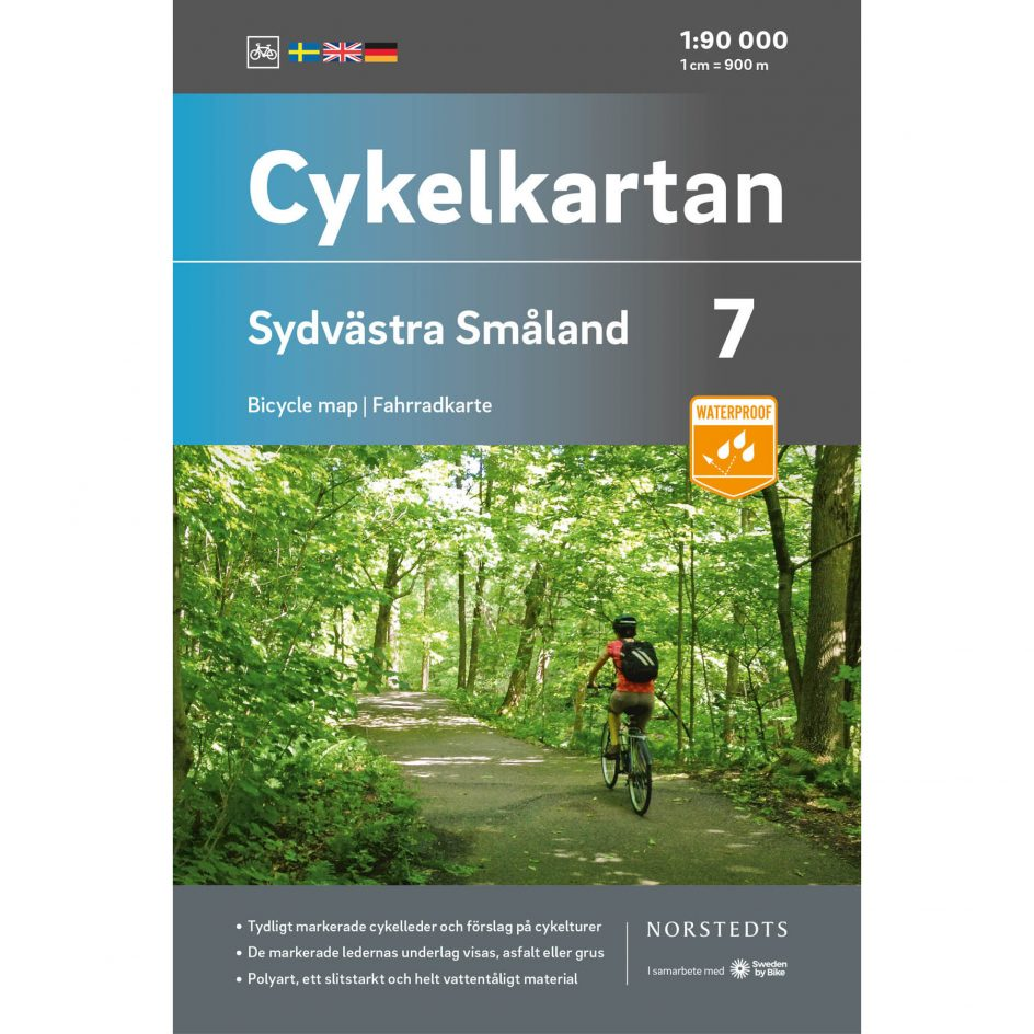 Cykelkarta 7 Sydvästra Småland omslag