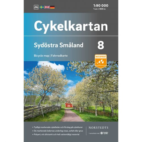 Bicycle map 8 Southeast Småland cover