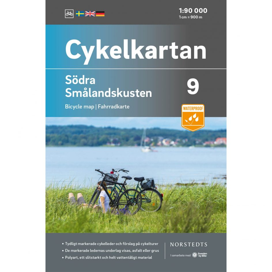 Bicycle map 9 Southern Småland coast cover