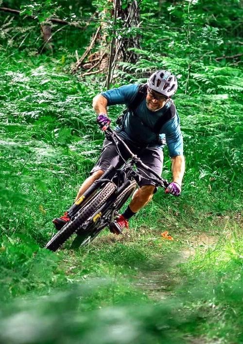 bike mtb on mountain farm