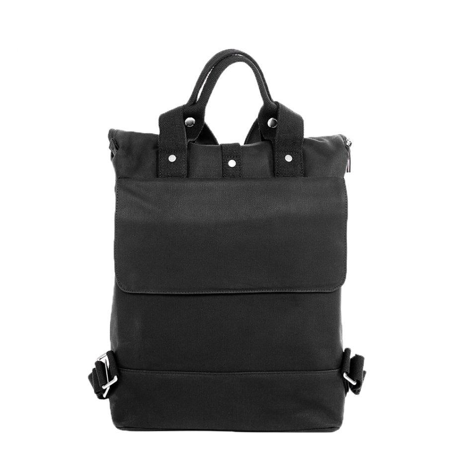 City Backpack Black back flap