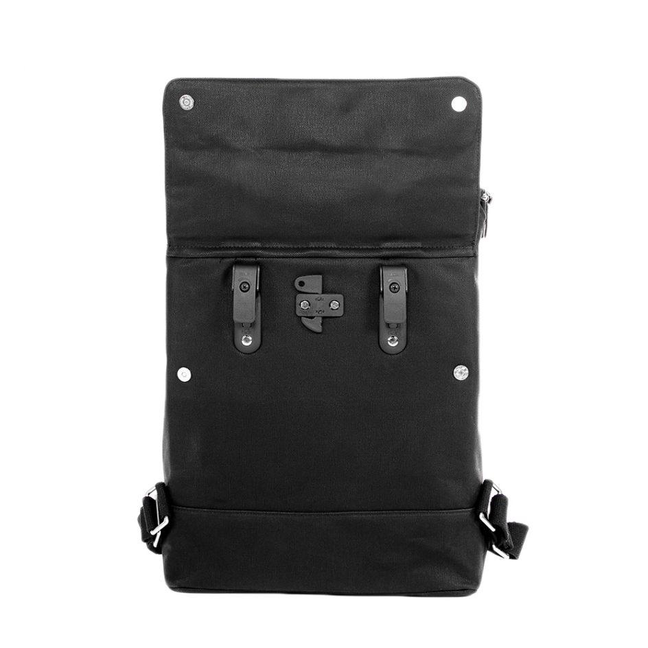 City Backpack Black back hooks