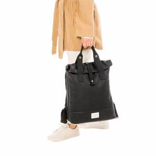 City Backpack Black model holding