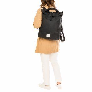 City Backpack Black model shoulder