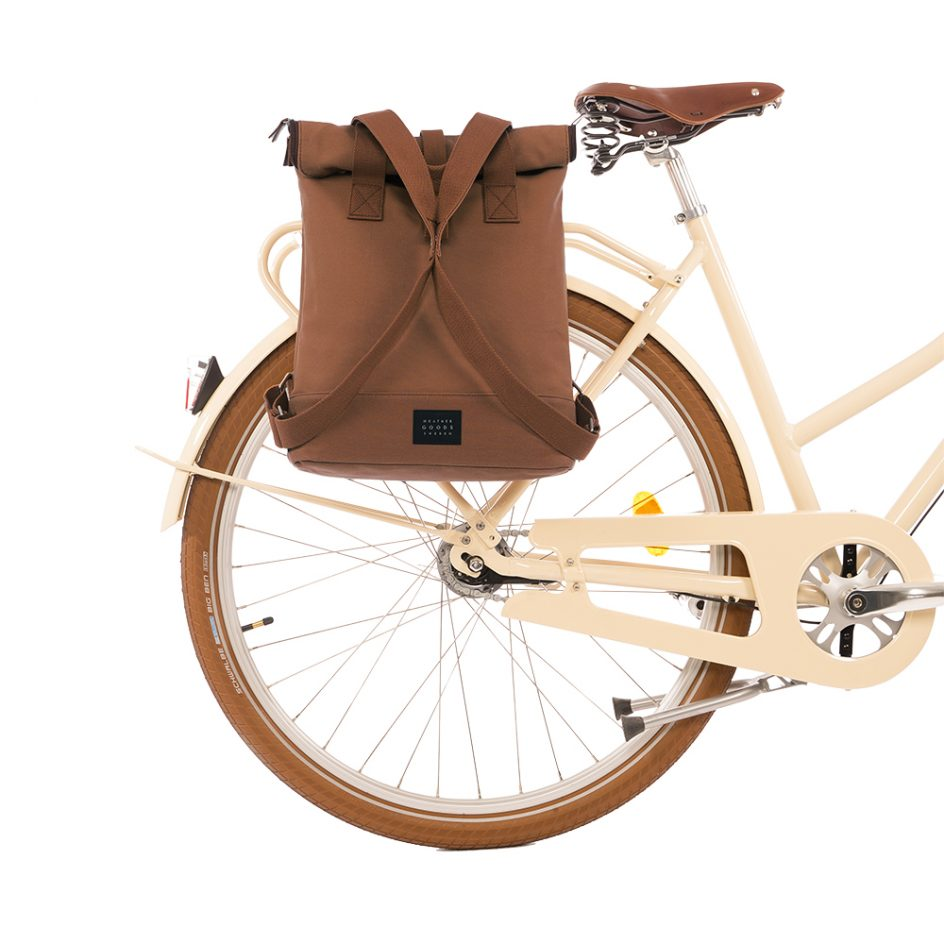 City Backpack Cognac bike