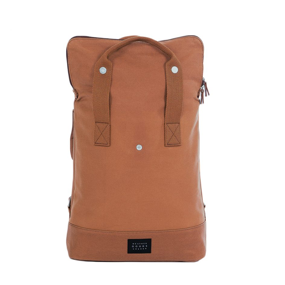 City Backpack Cognac front expanded