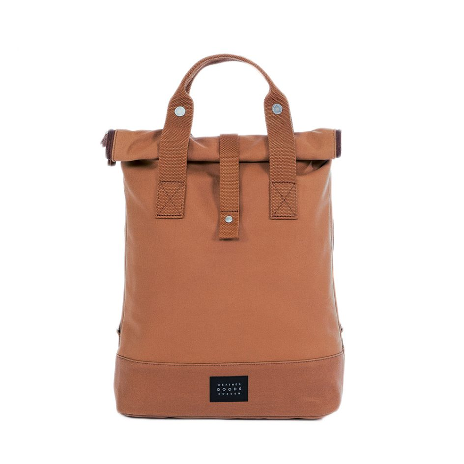 City Backpack Cognac front