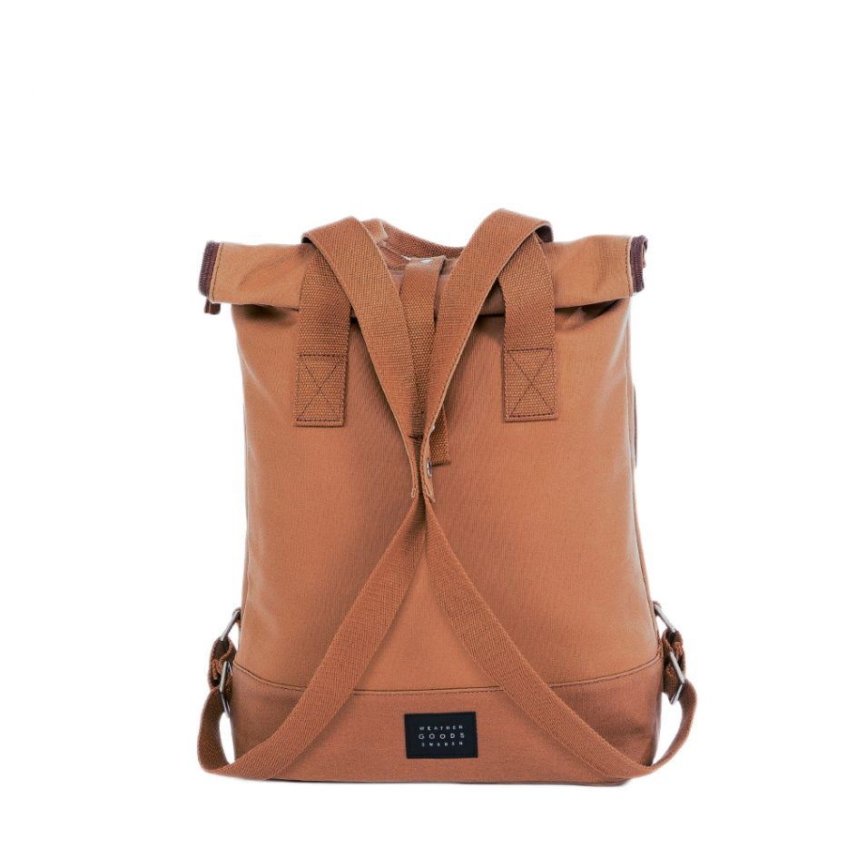 City Backpack Cognac front snapped