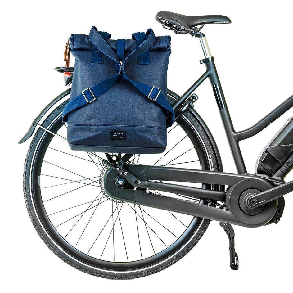 City Backpack Navy bike front