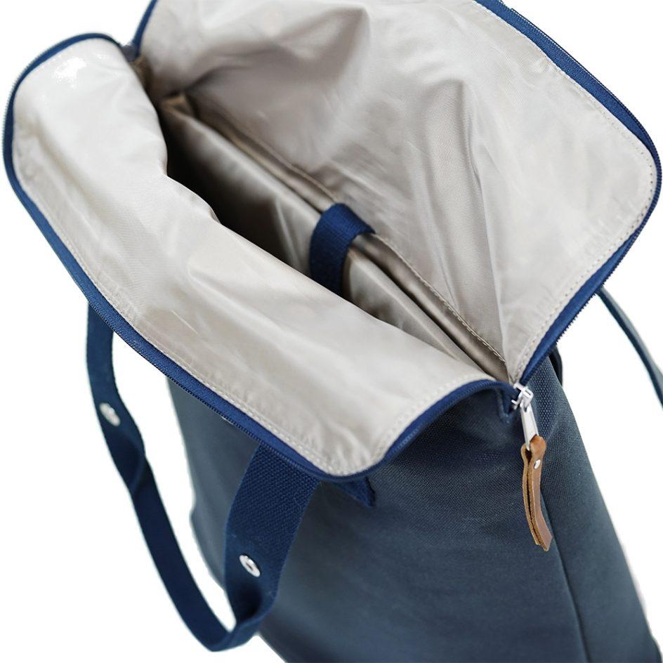City Backpack Navy inside