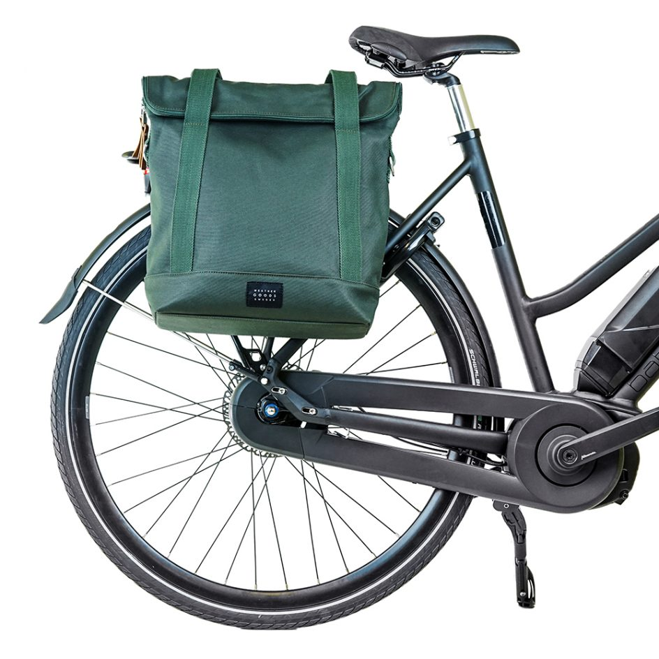 City Tote Green bike front