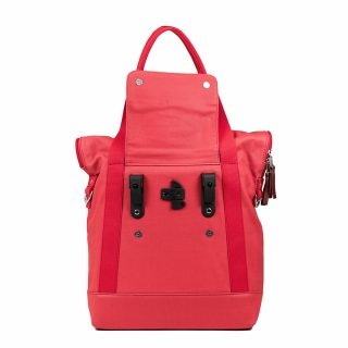 City Tote Coral back hooks
