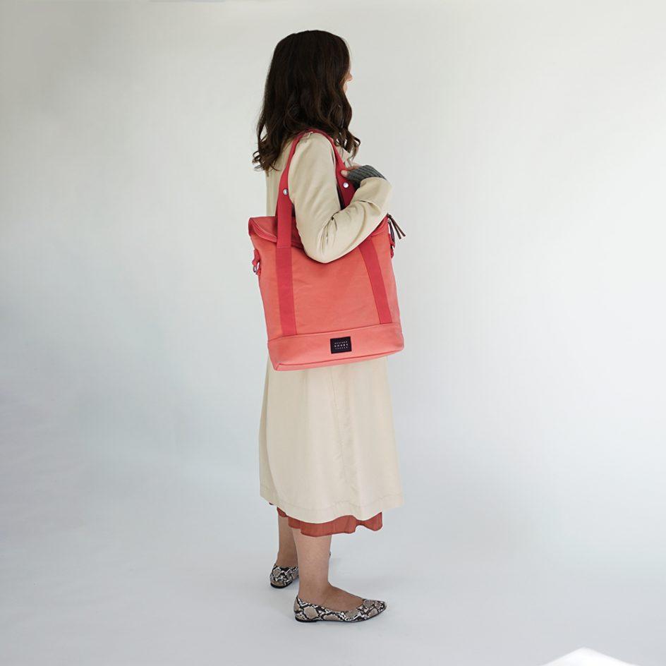 City Tote Coral bicycle bag shoulder wb