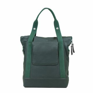 City Tote Green back