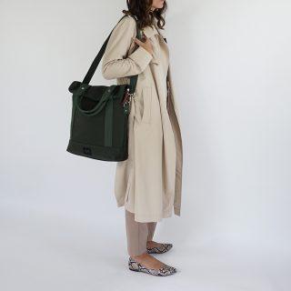 City Tote Green bicycle bag shoulder strap wb
