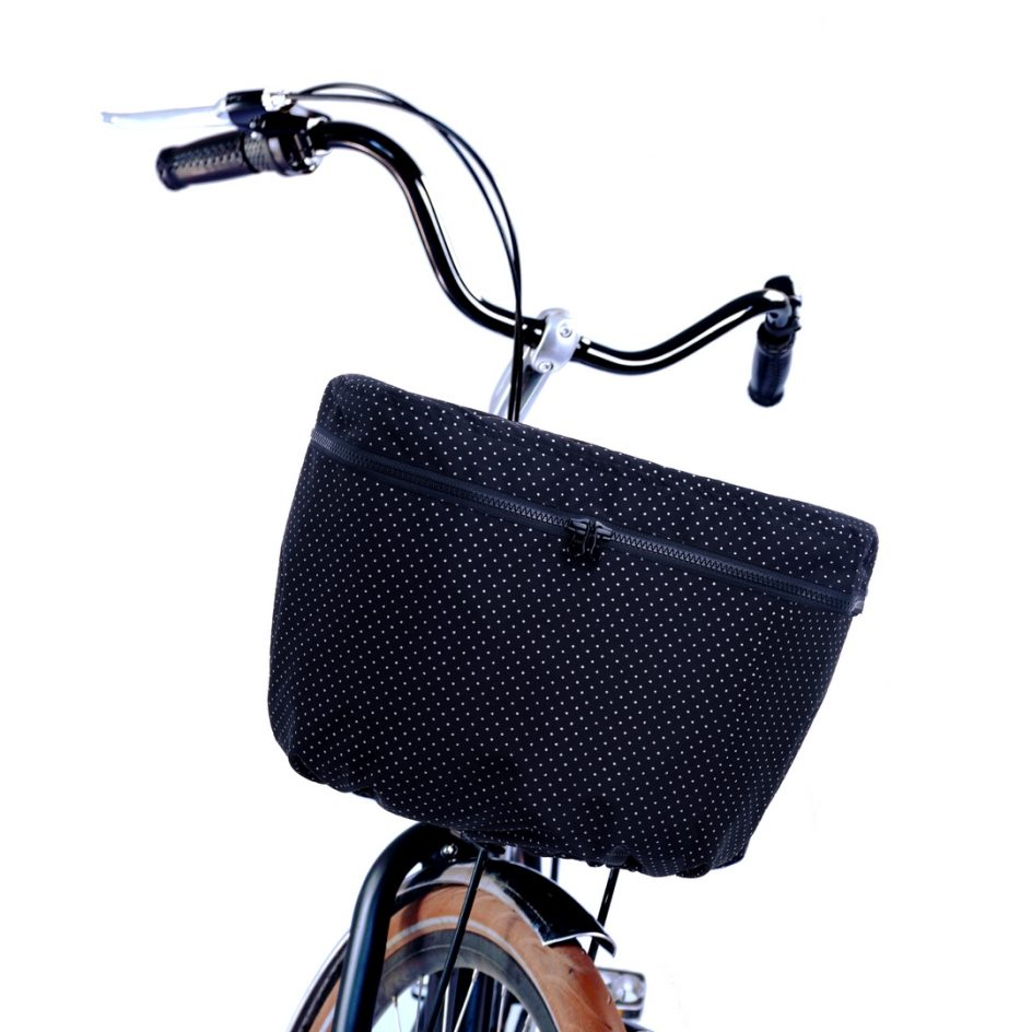 Luna Rain Cover Bike Basket Front Dot