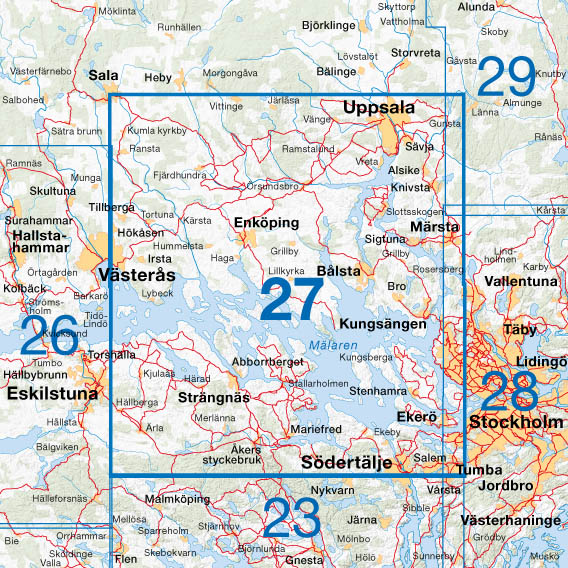 Cykelkartan översikt blad 27