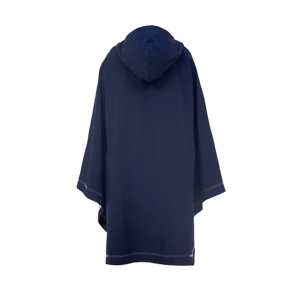 Imbris 2.0 rain poncho navy blue - back