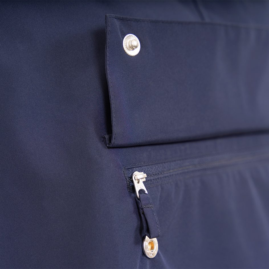 Imbris 2.0 rain poncho navy - detail pocket