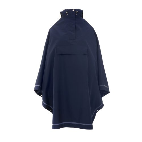 Imbris 2.0 rain poncho navy blue - front