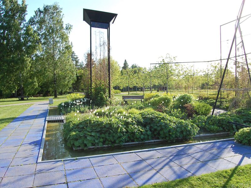 Blå trädgård