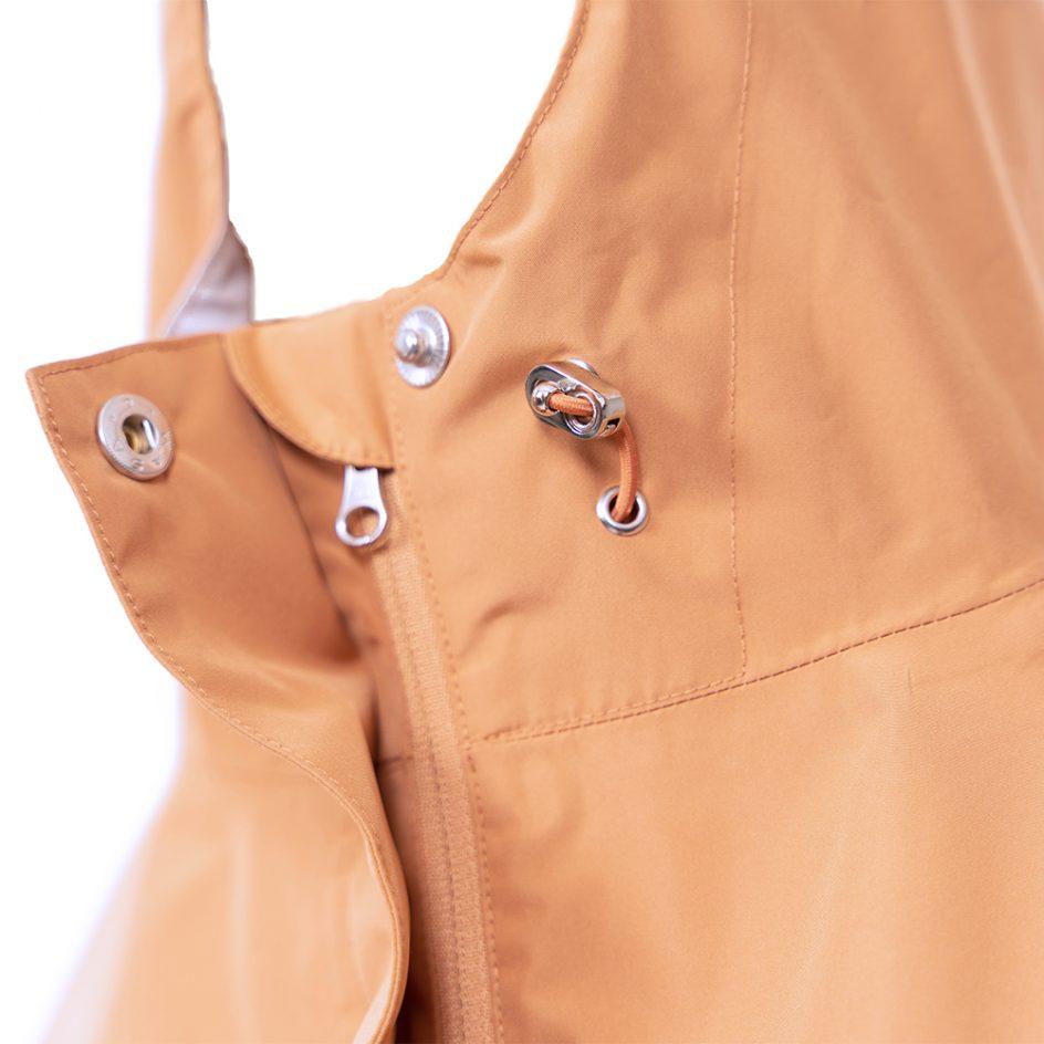 Imbris regnponcho persika - detail hood