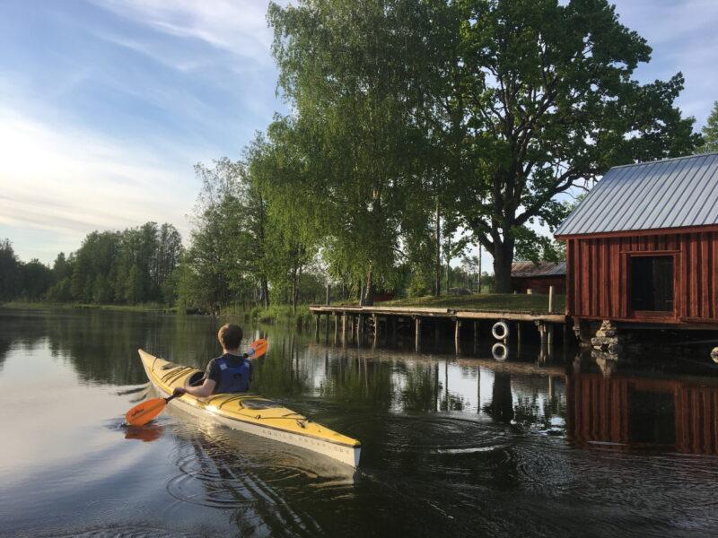 Kvarnen i Borgvik - paddling2