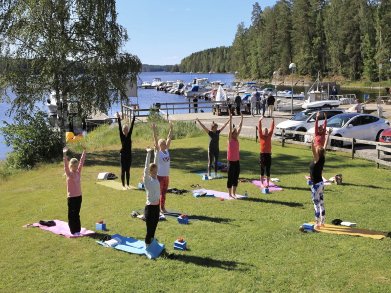 Yoga at Töcksfors camping