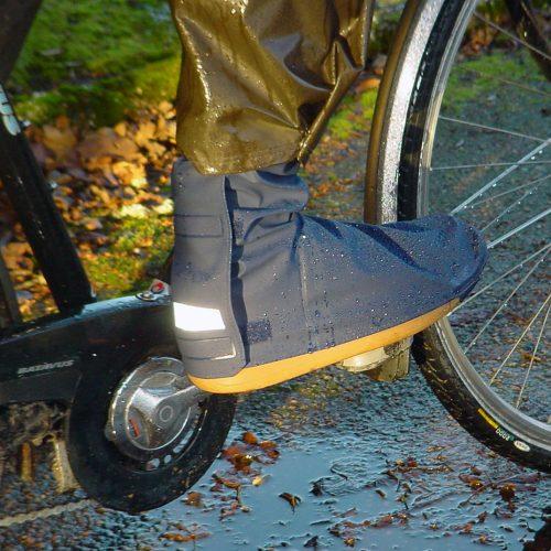 Rain cover for shoes - bike in the rain
