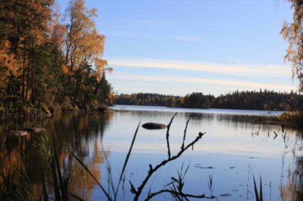 Lugnåsberget-lake-Vristulven-in-autumn colors